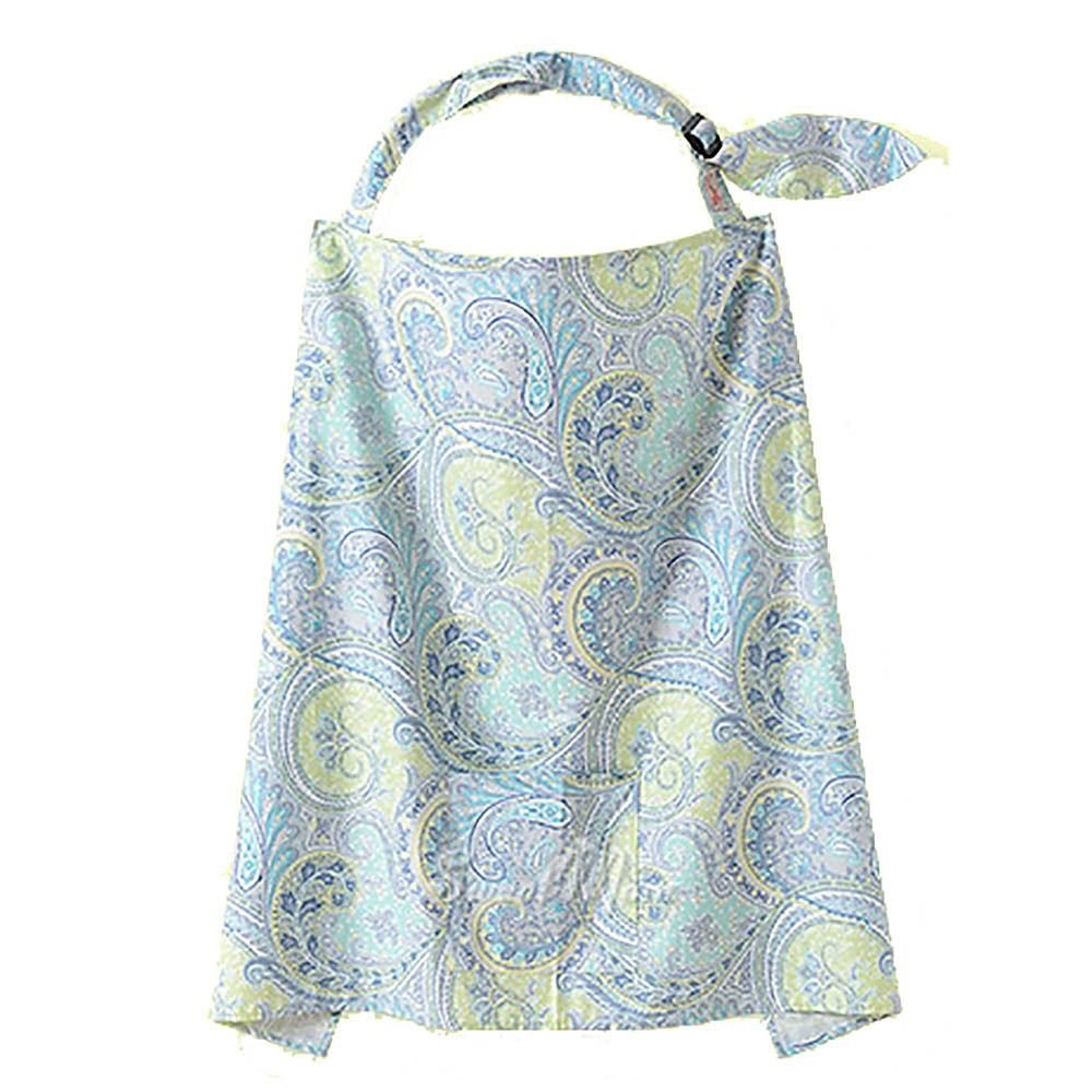 MMRM Cotton Privacy Nursing Cover Scarf Shawl for Chic Breastfeeding Moms - Blue