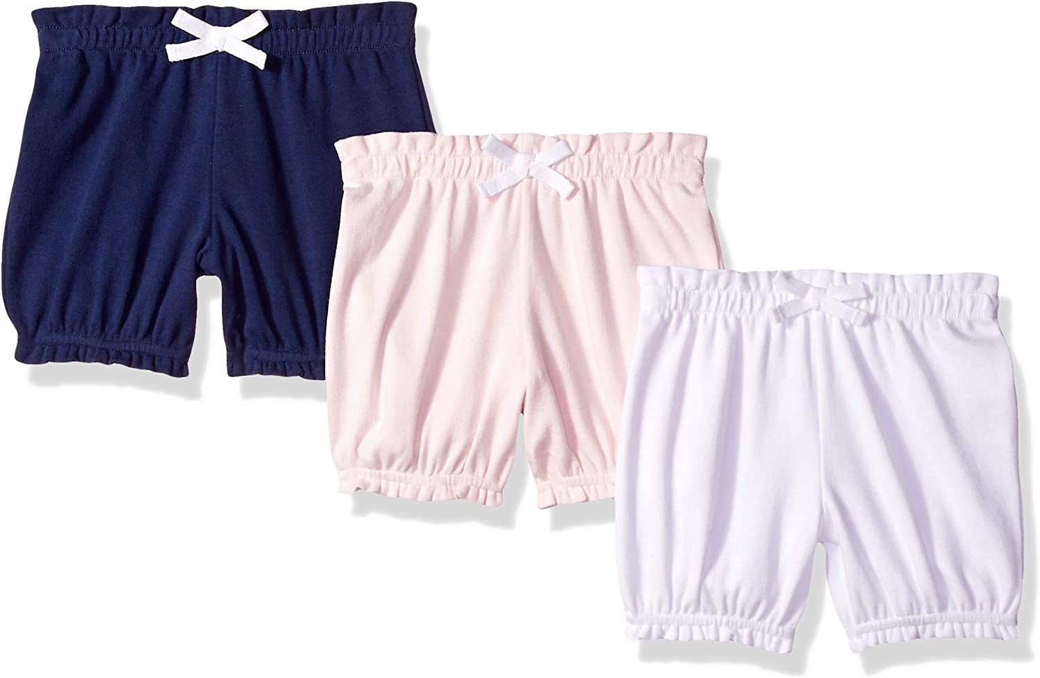 Essentials Baby Girls 3-Pack Bloomer