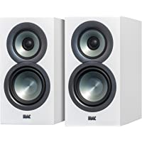 ELAC Uni-Fi BS U5 Slim 3-Way Bookshelf Speakers (Satin White, Pair)