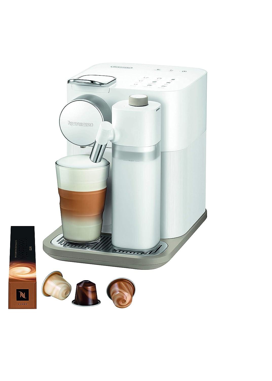 DeLonghi Nespresso Gran Lattissima EN650B - Cafetera monodosis de cápsulas (con depósito de leche compacto, 19 bares, 9 recetas, apagado automático) ...
