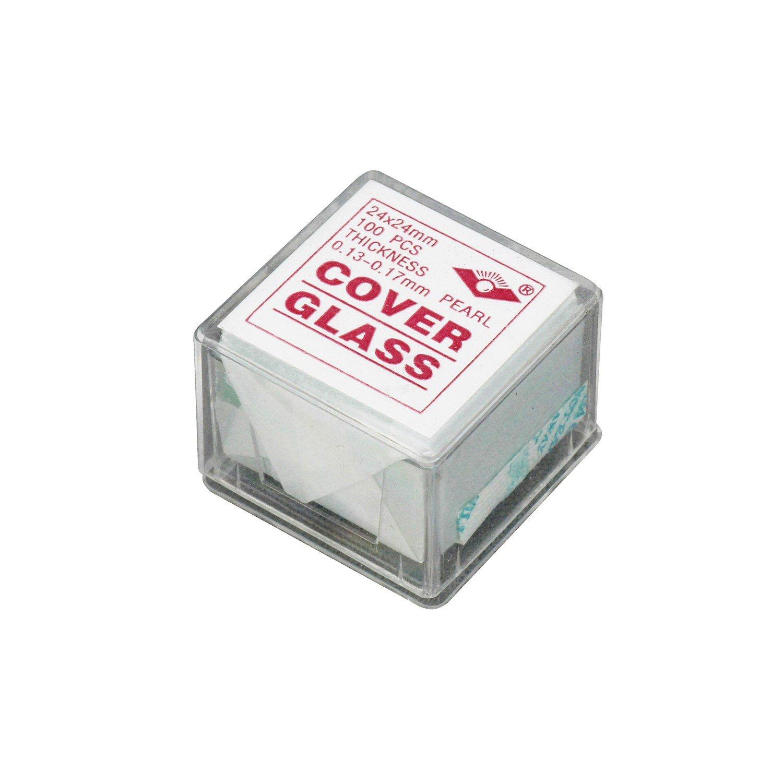 Microscope en verre pour lames coverslips de 100/pi/èces pr/énettoy/és 24/mm x 24/mm