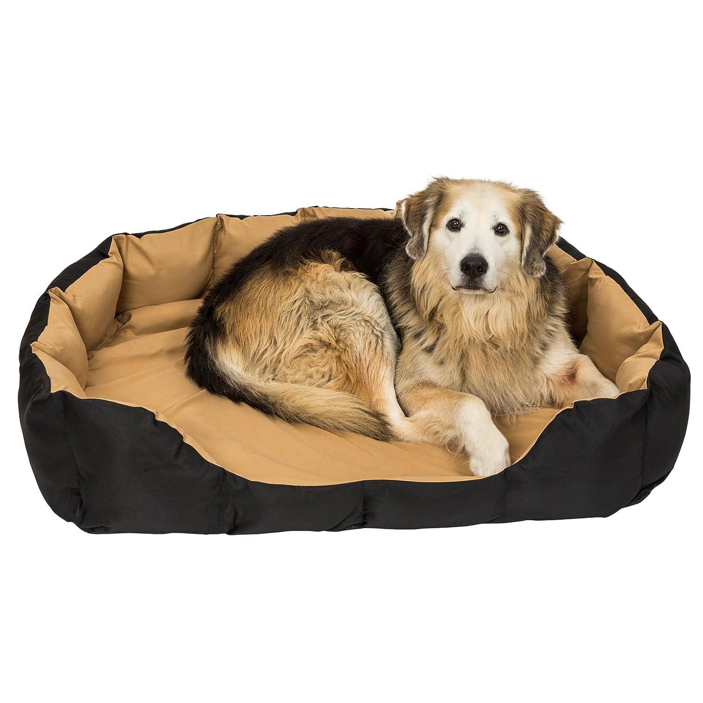 TecTake Cama Douillet para perros cesta cesto dormir XXL marrón/negro: Amazon.es: Productos para mascotas