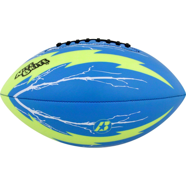 Blue//Green Junior Size Baden Nite Brite Football