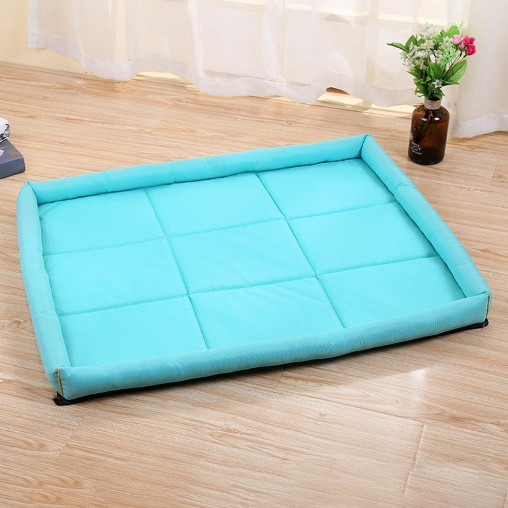 A L 7056 A L 7056 Gwanna Pet Bolster Dog Bed Comfort Waterproof Pet Supplies Dog large cushion rectangular outdoor pet Waterproof Cloth Soft Pad for Pets Sleeping (color   A, Size   L 70  56)