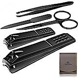 Manicure Pedicure Kit Nail Clippers Set High Quality Fingernails & Toenails Vibrissac Scissor 5 Pieces Best Care Tools for Ma