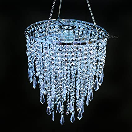 Amazon quasimoon paperlanternstore designer crystal quasimoon paperlanternstore designer crystal stainless steel chandelier 875 x 12 inch round single aloadofball Choice Image