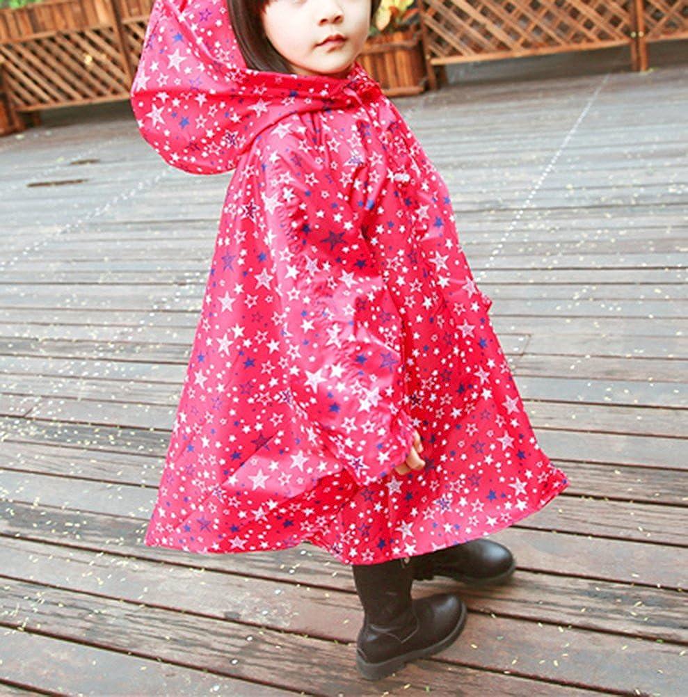 Popoye Kids Rain Jacket Poncho Raincoat with Hood
