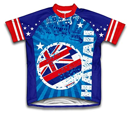 a3f82de17 Amazon.com   ScudoPro Hawaii Short Sleeve Cycling Jersey for Men ...