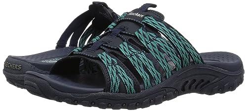 0726bdb52c5e Amazon.com  Skechers Women s Reggae-Jabby-Bungee Webbing Slide Sandal  Shoes