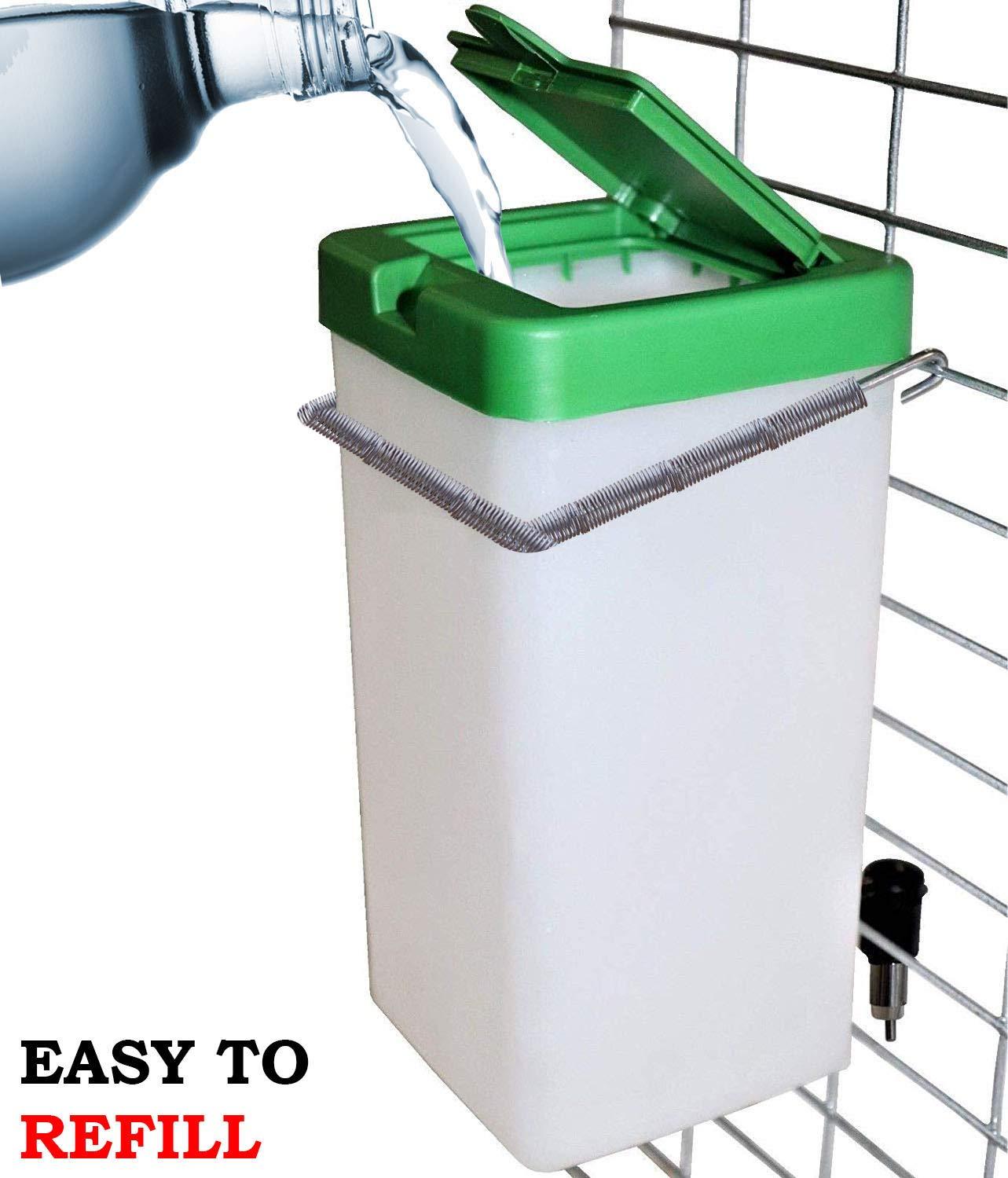 Cruzadel 32 oz Non-Drip Small Animal Water Bottle. Direct Refillable Water Dispenser for Small Pet (Rabbit/Hamster/Guinea Pig/Bunny/Ferret) by Cruzadel