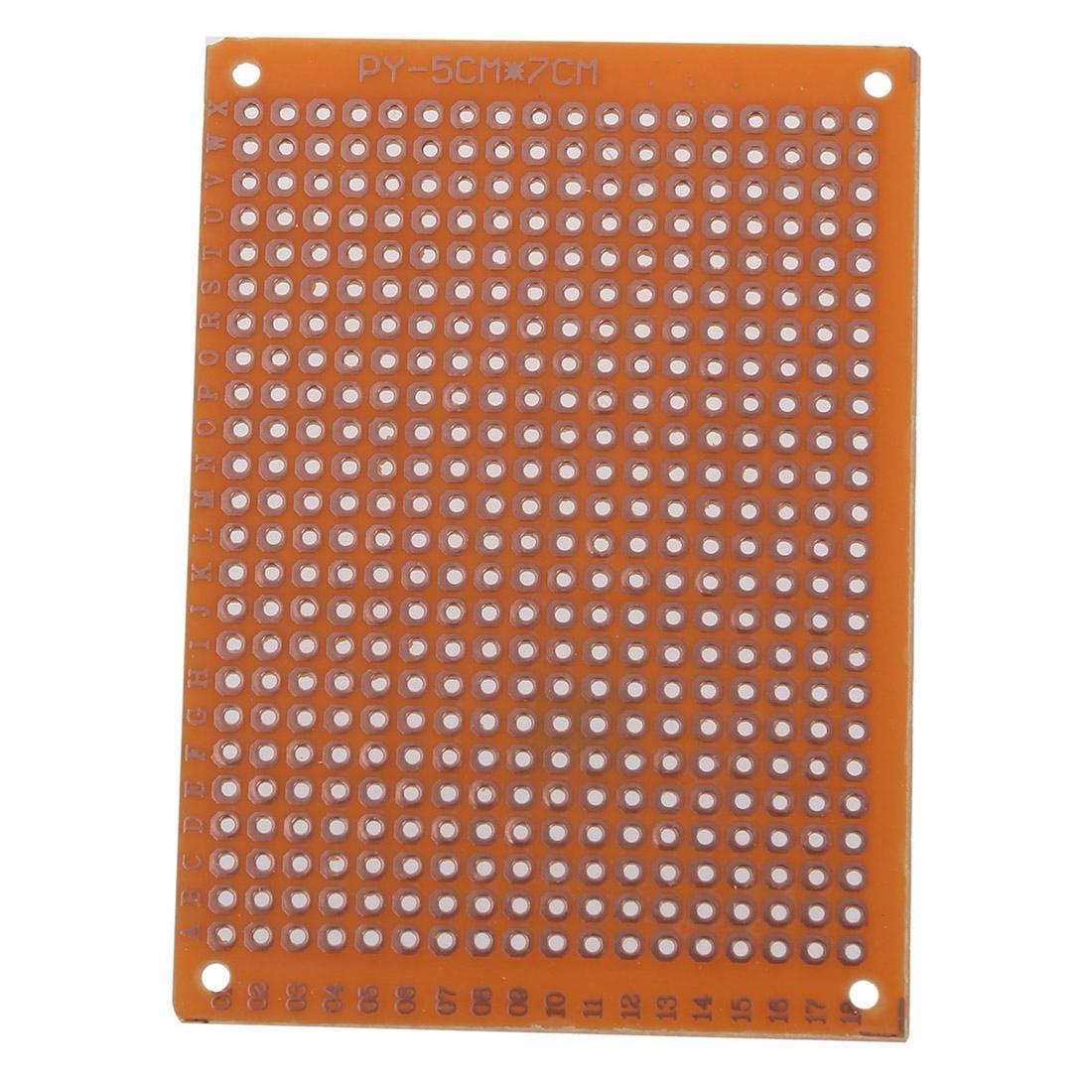 SODIAL Clasico 10pzs PCB prototipo terminado soldadura para placa de circuito Tablero de circuitos BI4U R