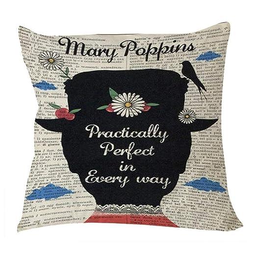 Hbesa Mary Poppins - Funda de cojín con Cremallera, algodón ...