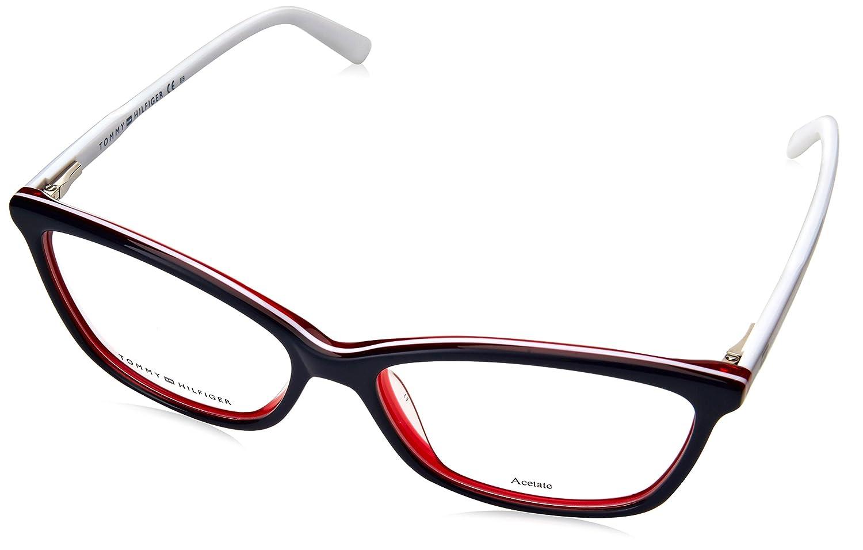 TOMMY HILFIGER 0VR2 Black White Blupetroleum Eyeglasses