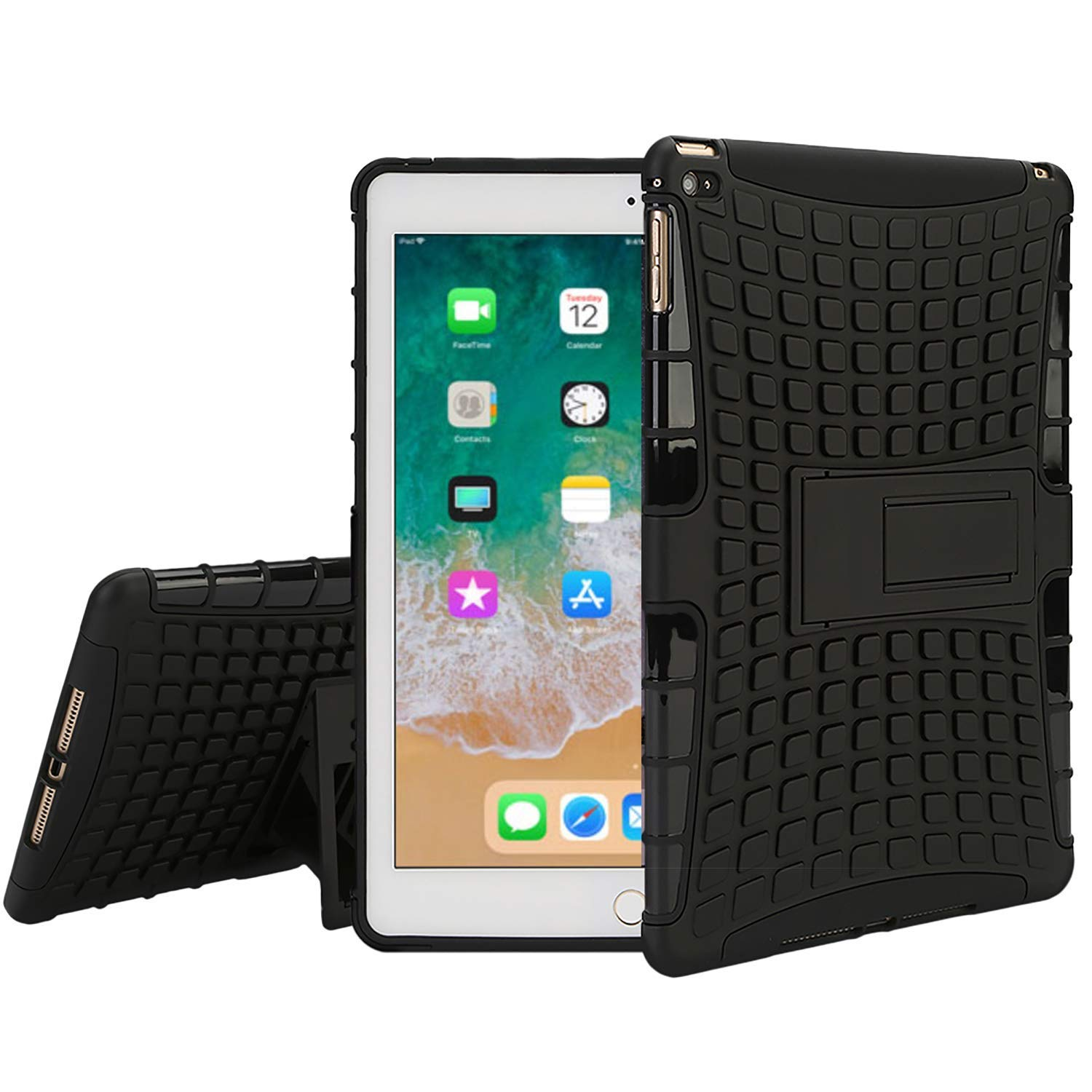 "iPad Pro 9.7 Shockproof Case,Hybrid Case for 9.7/"" iPad Pro 9.7 with Kickstand"
