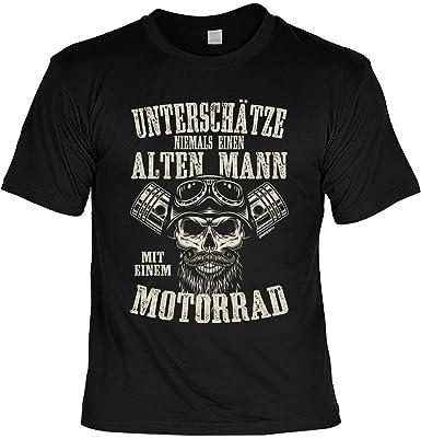 Herren Biker Spruche Shirt Fun Bekleidung Freizeit Unterschatze