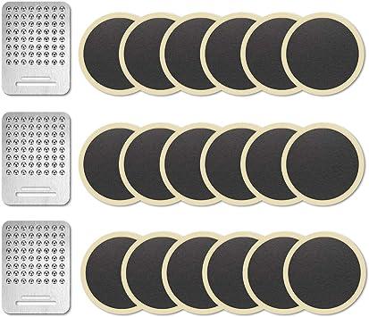 NIERBO Kit de Parche de Neumático para Bicicleta Autoadhesivo Reparación de Pinchazos MTB con Parches y Rallador (Kit B): Amazon.es: Deportes y aire libre