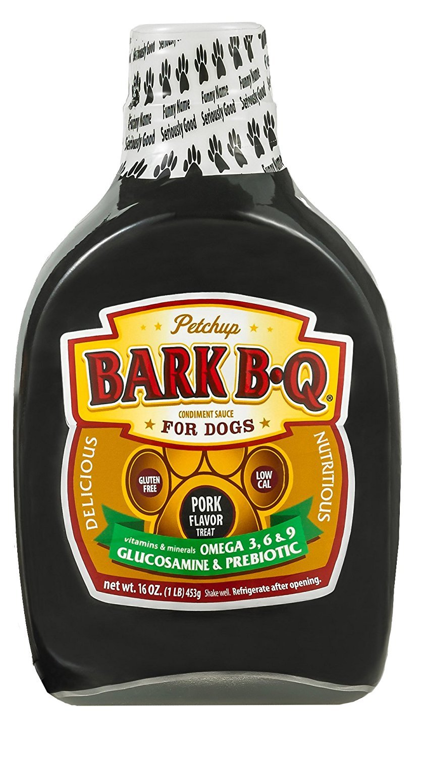 Petchup BARK B-Q Flavor Nutritional Dog Gravy Condiment - Gluten Free Best Dry Dog Food Topper with Natural, Healthy, and Holistic Formula for Adult Dogs. 16 oz. - 1 Bottle Pack by Petchup