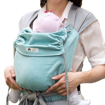 Limas portabebés de algodón ecológico, abrigo de abdomen, espalda y cintura y Transporte de