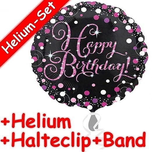 Carpeta Redondo Globo * Happy Birthday * + Helium Relleno + ...