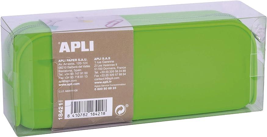 APLI 18421 - Estuche silicona Fluor Collection - Verde: Amazon.es: Oficina y papelería