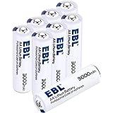 EBL リチウム乾電池単三型 長持ち電池1.5V 3000mAh*8個 収納ケース付き Lithium Metal Batteries 充電タイプではない