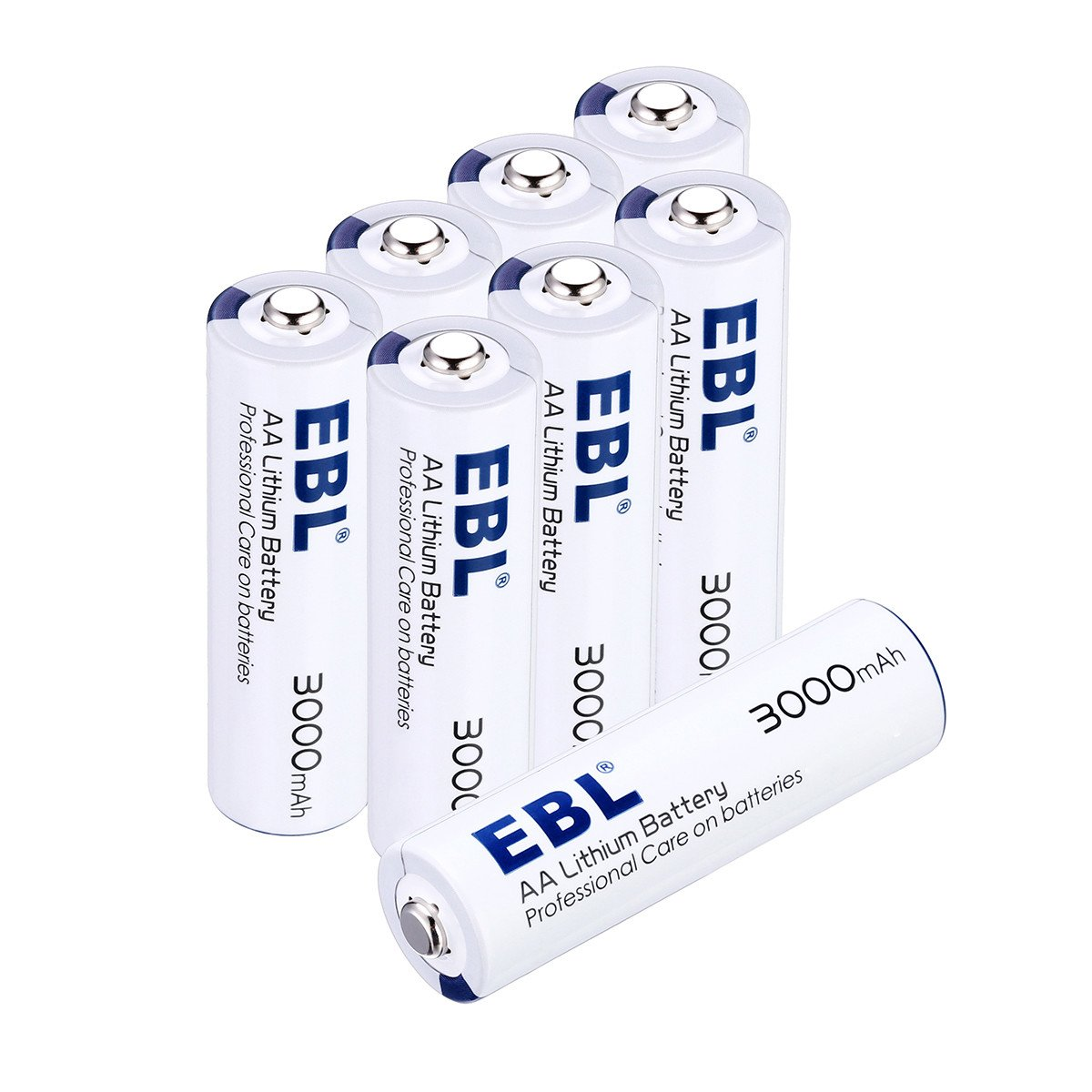EBL 8 Packs AA Batteries Non-rechargeable, 1.5V Lithium Metal Battery High Capacity for Home Appliances
