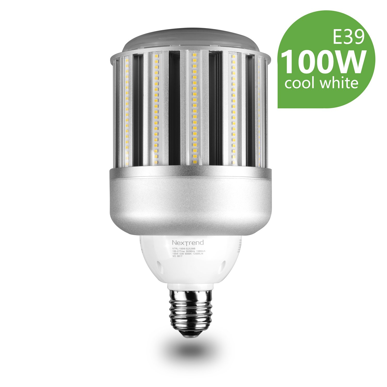 LED Corn Light Bulb, NexTrend 100W Corn Light Bulb for Indoor Outdoor Wide Area, for Home Garage Factory Warehouse High Bay Barn Porch Backyard Garden Street Post Lighting, Cool White by Nextrend