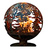 Esschert Design FF1012 Wildlife Fire Sphere, Rust Metal Finish - X Large