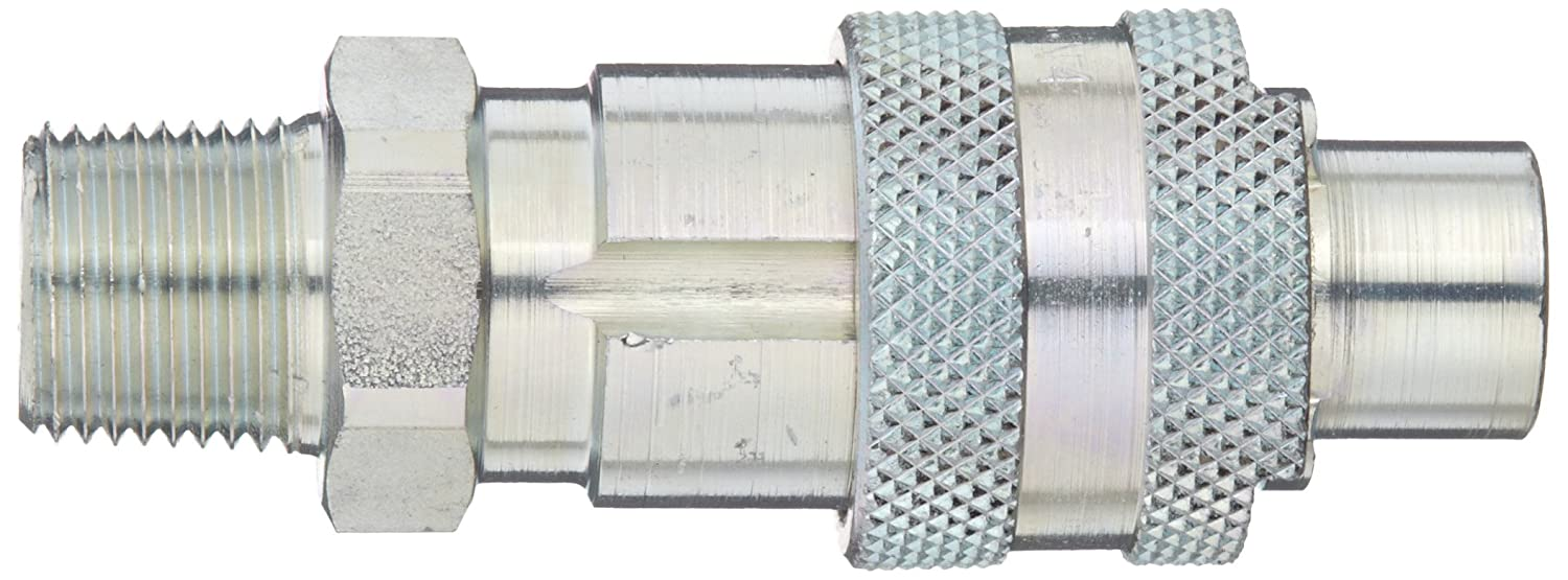 Dixon QM40 Plated Steel Dix-Lock Quick Acting Air Hose Fitting 3//8 Male Head x 1//2 NPT Male 3//8 Male Head x 1//2 NPT Male Dixon Valve /& Coupling