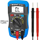 Digital Multimeter, HOLDPEAK 36K Auto-Ranging Multi Tester for Measuring DC AC Voltage, Current, Resistance, Capacitance, Frequency, Diode, Transistor and hfE of 4000 count (Blue)