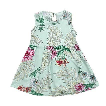 Fladas de Niñas , Challeng Vestido de fiesta sin mangas con estampado floral sin mangas para