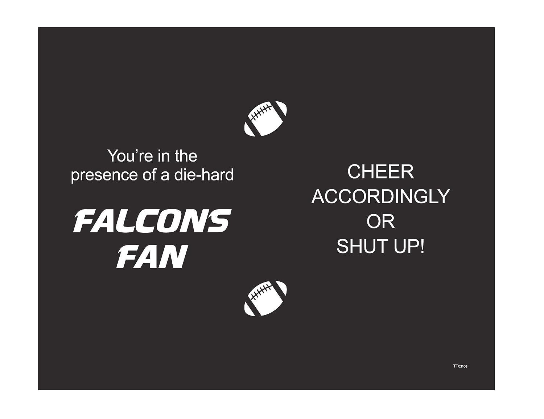 Tree-Free Greetings TT02108 Falcons Football Fan 18-8 Double Wall Stainless Artful Tumbler 14-Ounce Tree Free
