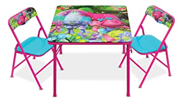 Trolls Activity Table Set with Two Chairs  sc 1 st  Amazon.com & Amazon.com: Trolls Activity Table Set with Two Chairs: Toys \u0026 Games
