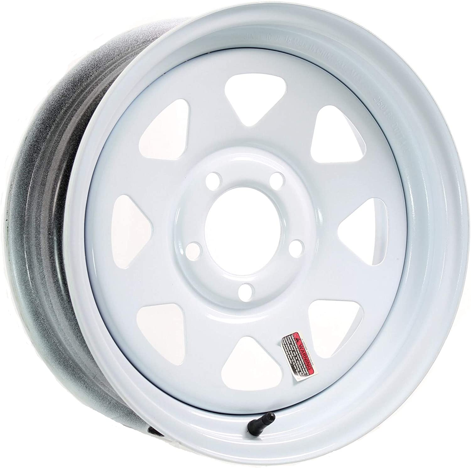 2-Pack Trailer Rim Wheel 14X5.5 J 5-4.5 White Spoke 2200 Lb 3.19 CB 75PSI