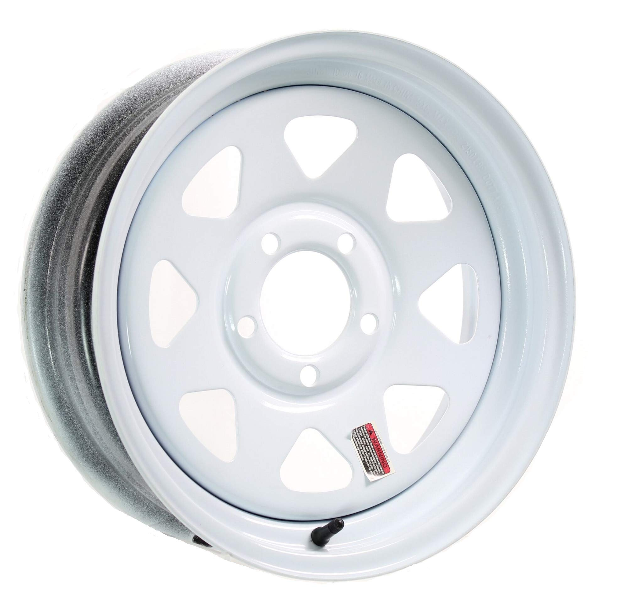 eCustomRim Trailer Wheel Rim 15X5 J 5-4.5 White Spoke 2150 Lb. 3.19CB