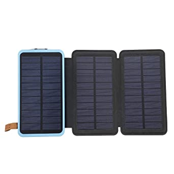 TuToy 20000Mah Solar Panel Cargador Solar 5W 5V/2A Cargador ...