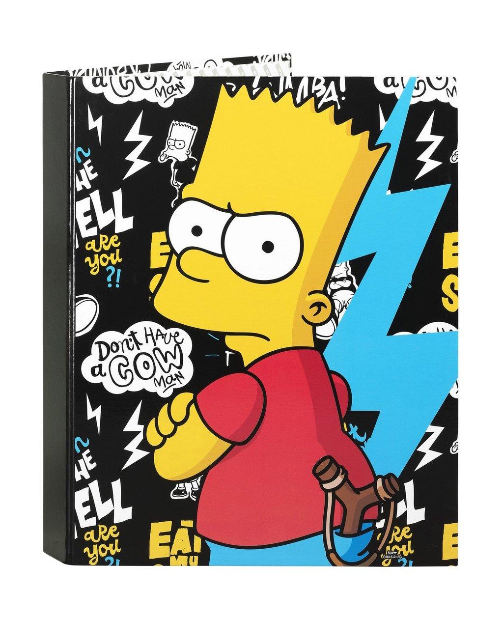 Los Simpsons Carpeta Folio 4 Anillas Mixtas, Color Negro (SAFTA 511605067): Amazon.es: Juguetes y juegos