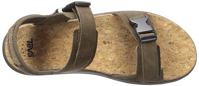 Teva Terra-Flotador Universal Lux Sandalia de Cuero de los Hombres, Brown, 44 D(M) EU: Amazon.es: Zapatos y complementos