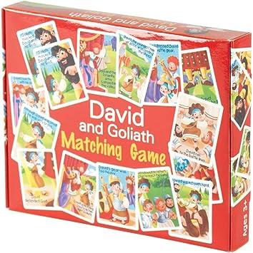 David and Goliath Biblical - Juego de Mesa (41 Unidades, cartón, 5,5 x 7 cm), diseño bíblico: Amazon.es: Juguetes y juegos