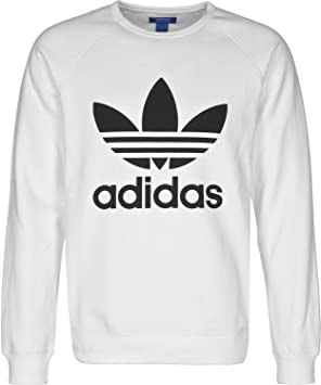 adidas Trefoil Sweat-Shirt Homme, Blanc, FR : 2XL (Taille Fabricant :