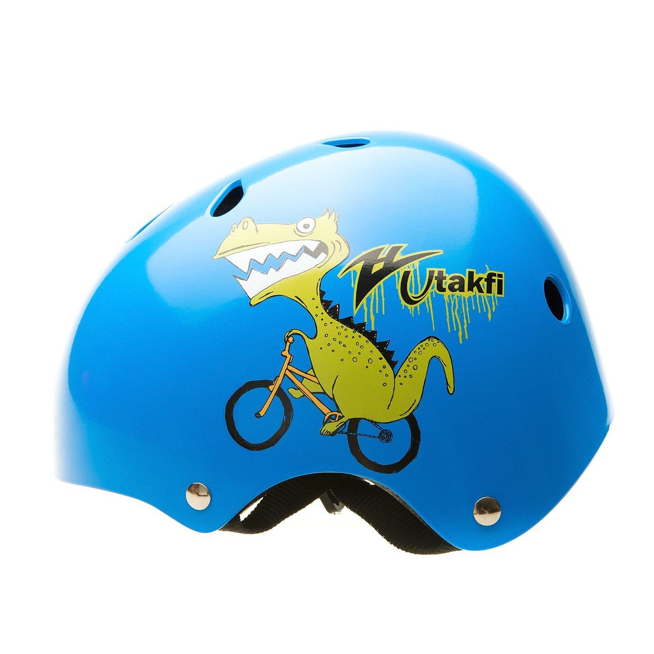 BeBeFun Toddler and Kids Bicyle &Scooter&Skate helmet No 1 Choice (Navy Dinosaur, 2-7 Year)
