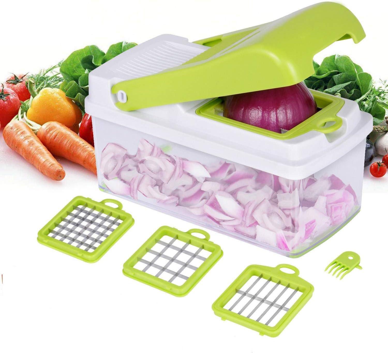 Picadora de verduras, Rebanadora de alimentos 3 configuraciones de ...