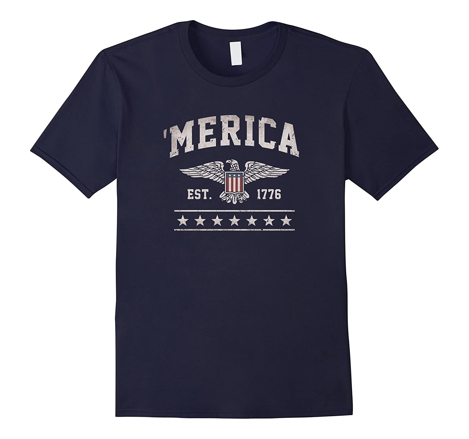 'Merica Est. 1776 Eagle Vintage T-Shirt-TH