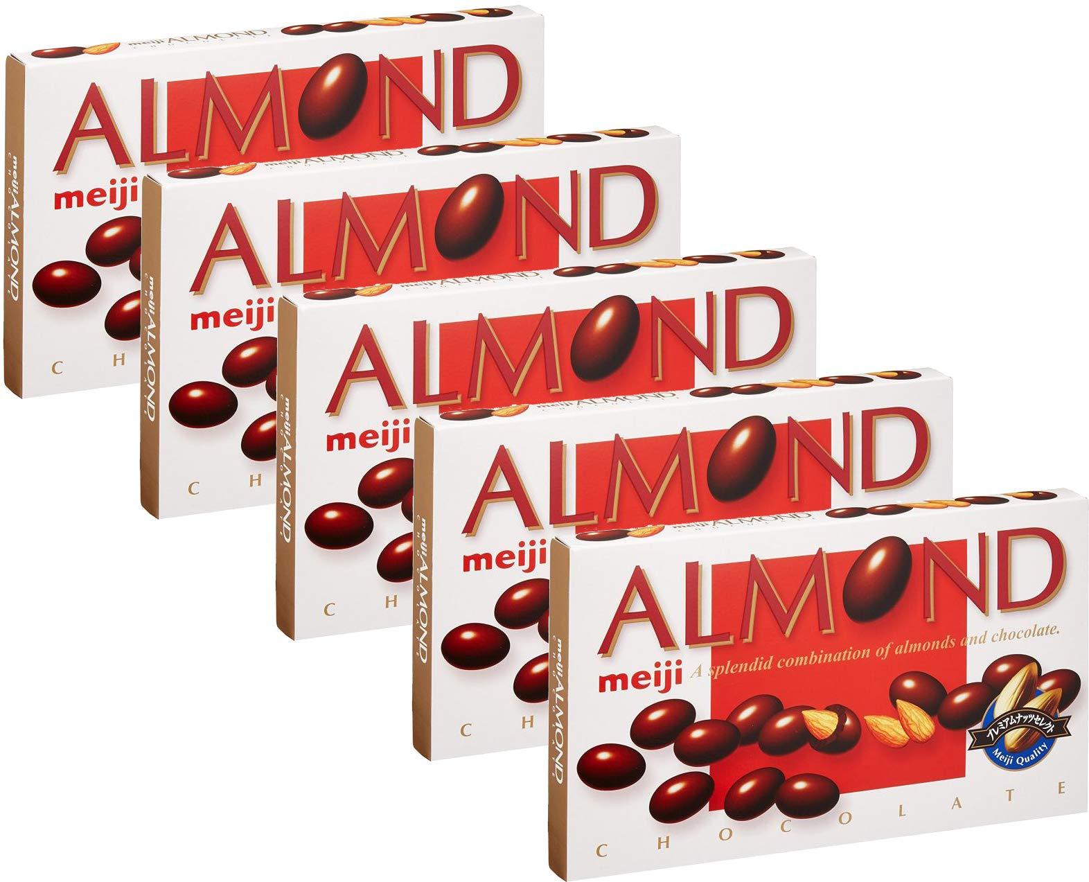 Meiji Almond Chocolate Box 3.10oz (5 Pack) by Meiji