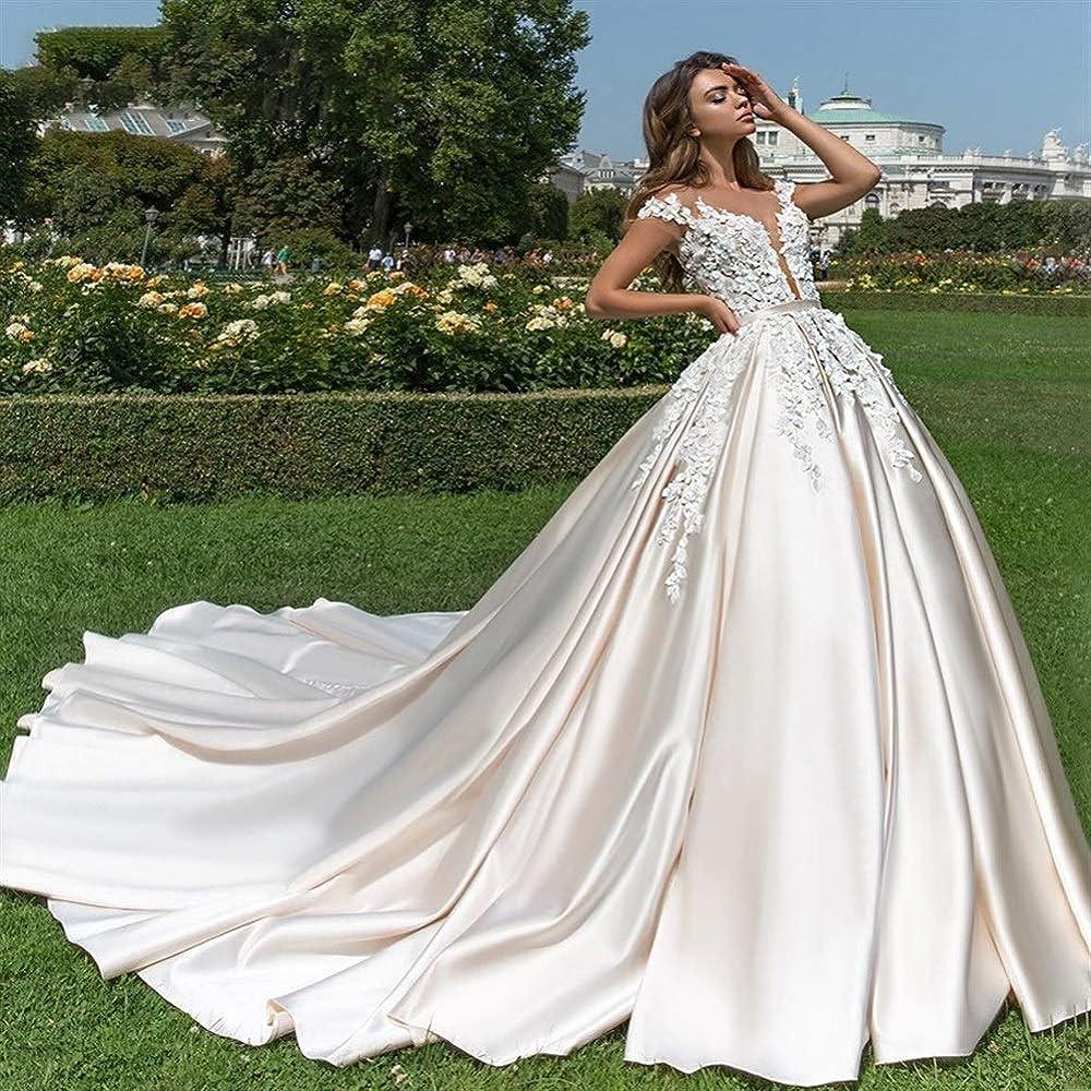 Vestido de novia Vestido de novia de princesa de satén suave ...