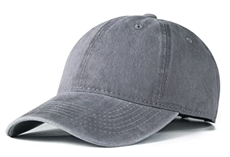 4698999530687 Edoneery Men Women Cotton Adjustable Washed Twill Low Profile Plain  Baseball Cap Hat