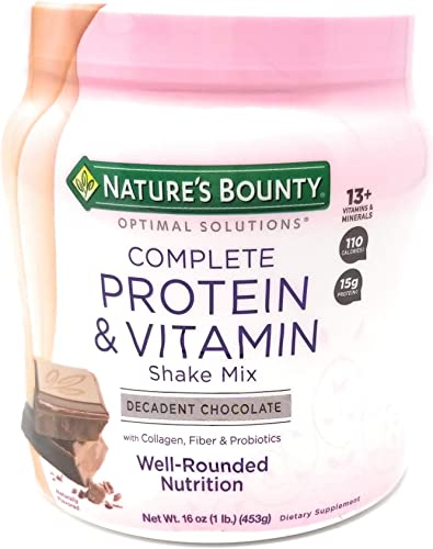 Nature s Bounty Chocolate Flavored Protein Shake Mix, 16 Ounces 2 Pack