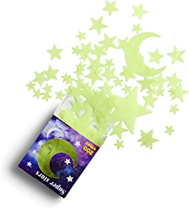 rosgel Glow in The Dark Stars for Ceiling, 200 Count w/Moon, Ceiling Stars for Kids Room Decor