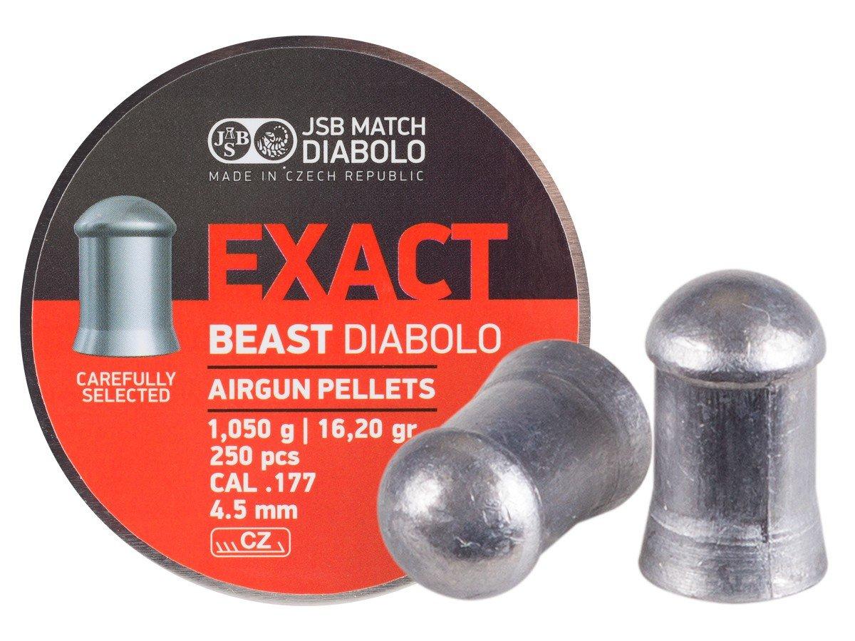 JSB Diabolo Exact Beast Air Gun Pellets .177 Cal, 15.9 Grains, 250ct by JSB