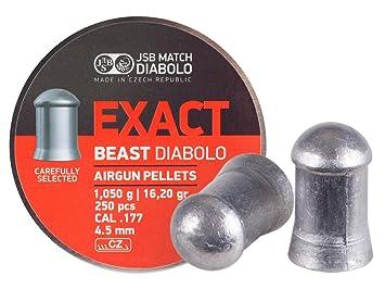 Amazon.com: JSB Air Gun Pellets EXACT.177 Calibre, Paquete ...
